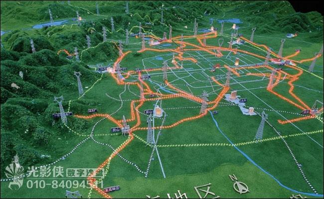 北京电力系统地理接线沙盘