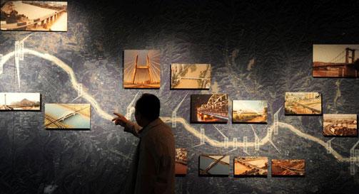 兰州黄河桥梁博物馆记录下的中山桥文化研究黄河霾雾图纸图片